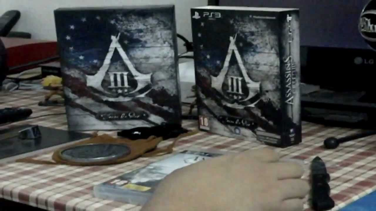 Assassin's Creed 3 Unboxing Edition Join or Die PS3 - YouTube