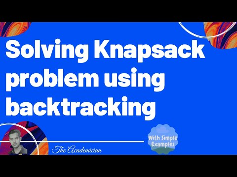 Solving Knapsack problem using backtracking