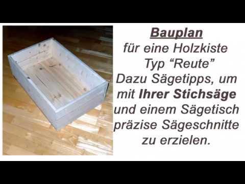 Holzkiste Nach Plan Selber Bauen Einfach Und Schnell Ebay Youtube