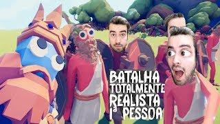 BATALHA TOTALMENTE REALISTA NA PRIMEIRA PESSOA! | Novos Soldados e DESAFIOS!