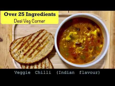 Vegetarian Veggie Chilli Chili Indian Flavour Recipe Youtube