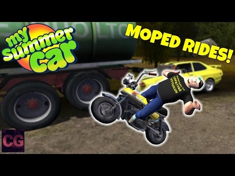 HUGE HIGHWAY CRASHES + GIVING MOPED RIDES! - My Summer Car Gameplay - EP 28