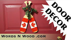 Canoe Paddle Door Decoration  Thing (WnW #120)  Christmas Craft