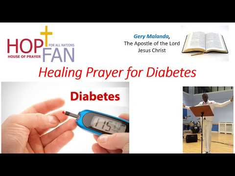Healing Prayer For Diabetes