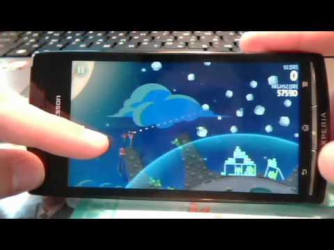 Обзор игры Angry Birds Space на Xperia Arc S