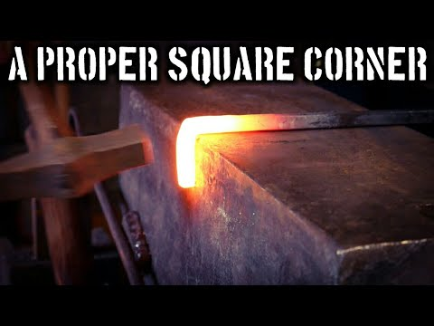How to Properly Forge an Upset Square Corner