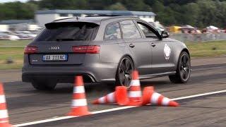 710HP Audi RS6 LA-Performance w/ Milltek Exhaust - LOUD Revs & Dragrace vs RS6 Akrapovic! thumbnail