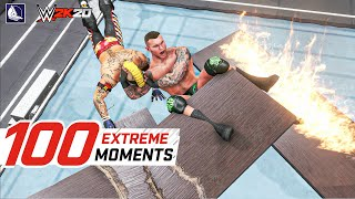 WWE 2K20 Top 100 Extreme  Moments! *Insane* (ft