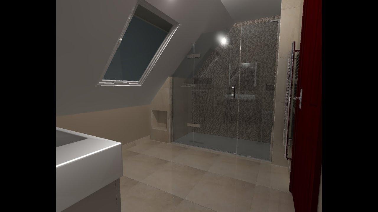 Badkamer Schuin Dak : Badkamer ontwerpen met schuin dak youtube