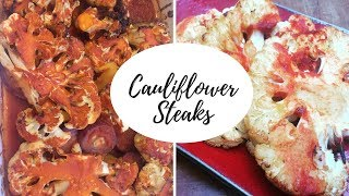 Mouth Watering Cauliflower Steaks. Easy and Healthy Recipe!
