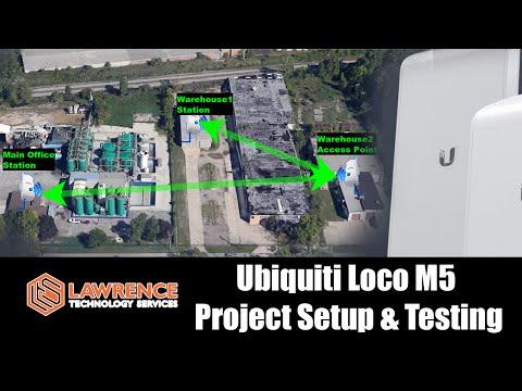 Ubiquiti Loco m5 testing base stations bridged via access point