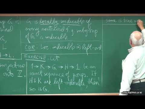 Dale Rolfsen (University of British Columbia) / Ordering Knot Groups Lecture 2: Knot groups.