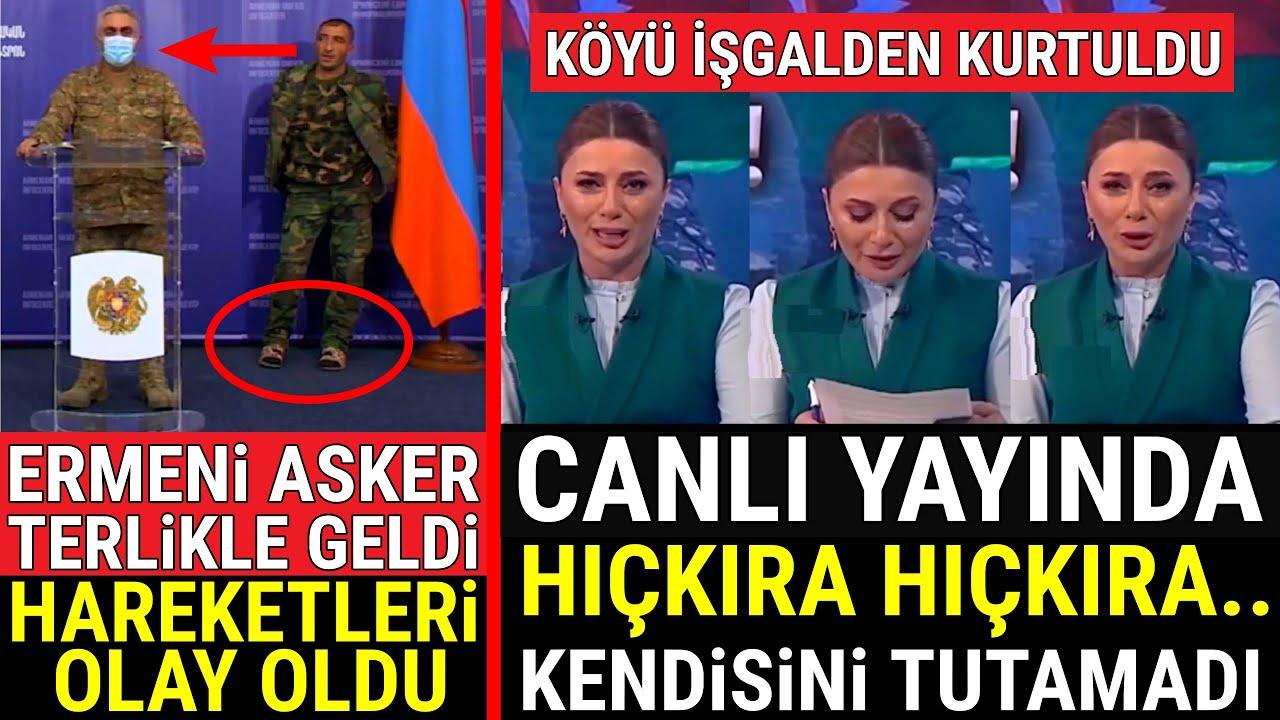 Ermeni Asker TERLİKLE GELDİ, Hareketleri Olay Oldu.. Azerbaycanlı Spiker..