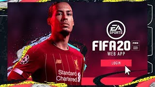 FIFA 20 ULTIMATE TEAM WEB APP HYPE 😱 EARLY ACCESS TODAY ASWELL ?! (FIFA 20 WEB APP)