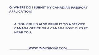 Where Do I Send My Canadian Passport Application?