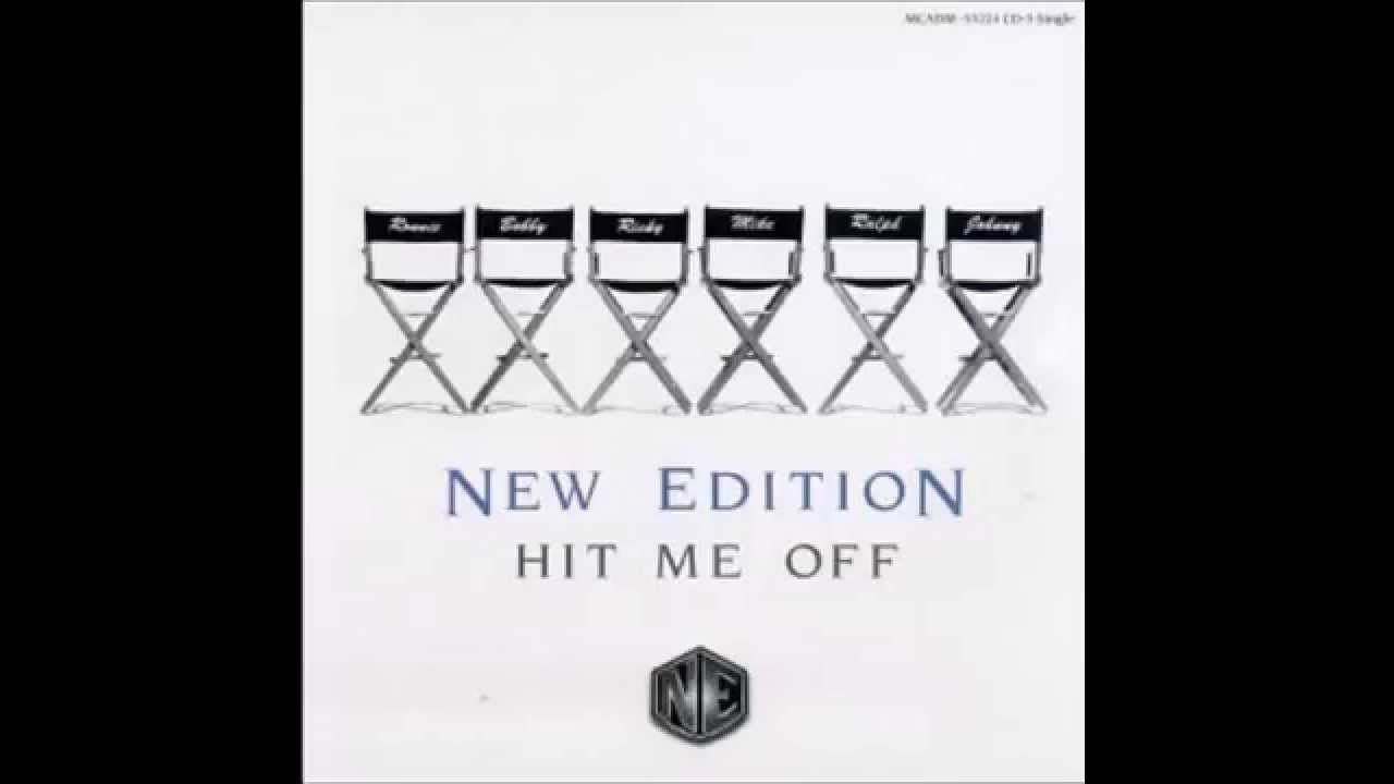 New Edition - Hit me off Lyrics (Video)