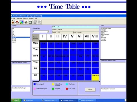 Time Table Visual Basic  Project  Youtube