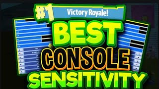 BEST CONSOLE SENSITIVITY TO PLAY FORTNITE ON! SHOOT AND BUILD LIKE A PRO!