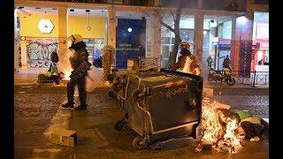 Анархисты жгут мусорные баки в Афинах