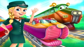 Super Fun Trains All Aboard - Fun Kids Games Video For Baby And Children