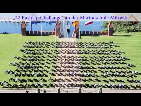 """22 PushUp Challenge"" an der Marineschule Mürwik"