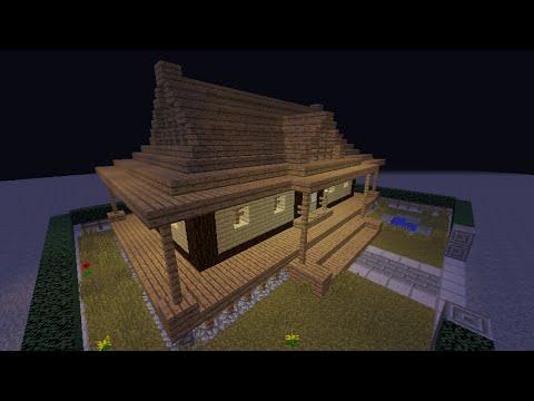 【マイクラPE】和風建築にチャレンジ! ハーフ階段ブロックで「和」を表現