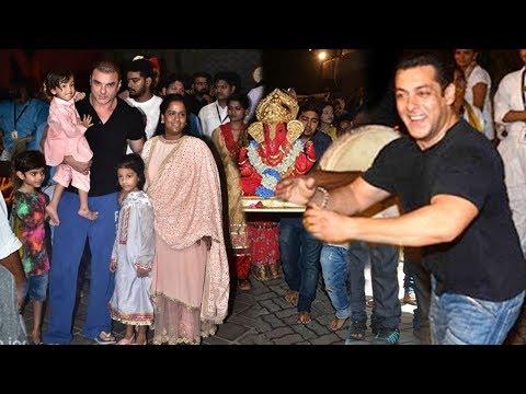 Salman Khan's Ganpati Visarjan 2018 Full INSIDE & Outside Video Of House Galaxy,Bandra