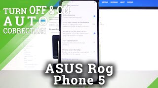 How to Find Text Correction Options in ASUS Rog Phone 5 – Auto Correction