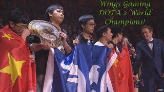 #TI6 Grand Final @ Wings Gaming champion #International 2016! Winning moment #ti2016 #ti #AfterGame