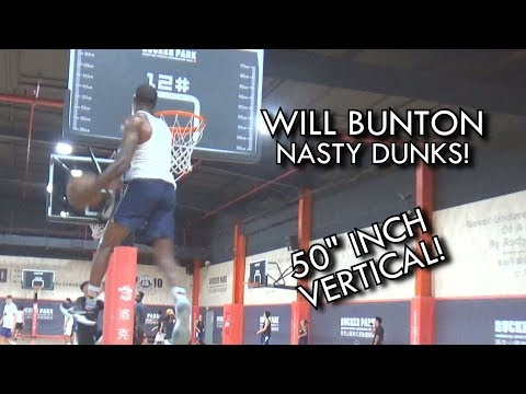 """Will Bunton JUMPS so HIGH! Nasty DUNKS Showing off his 50"""" VERTICAL"""