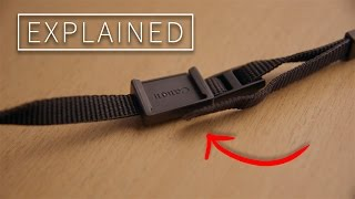 Explained! The piece of rubber on your DSLR strap