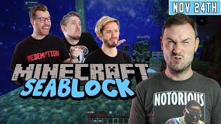 Sips Plays Minecraft Seablock: Rustic Waters w/ Hatfilms! - (24/11/20)