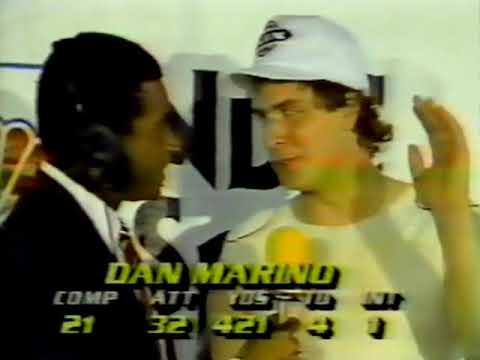 1984 AFC Champ Miami Dolphins Locker Room Interviews - Don Shula, Dan Marino