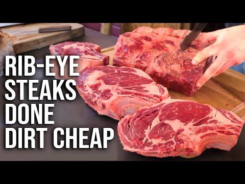 Rib Eye Steaks Done Dirt Cheap