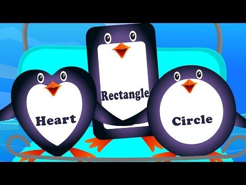 five little penguins  shapes song  nursery rhymes  kids songs  ba rhyme