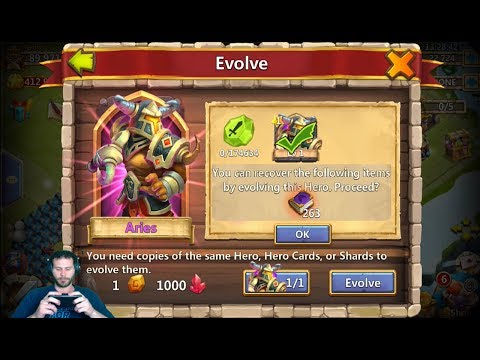 JT's Free 2 Play Evolving Aries Boosting Him UP + Lost BattleField Ownage Castle Clash
