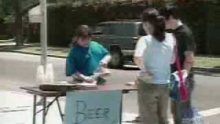 A Kid Running Beer Stand