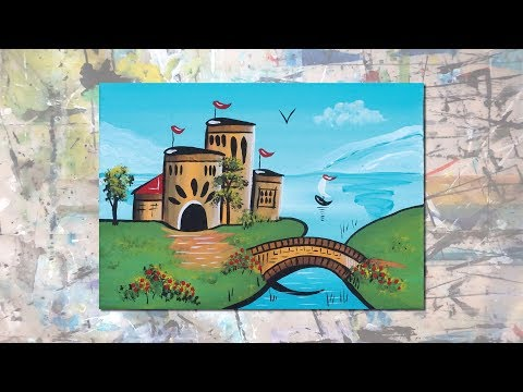 How to Paint a Narrowboat Castle with Folk Art Paint - Wendy Eriksson