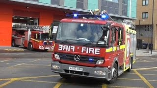London Fire Brigade // Pump Ladder + Turntable Ladder Responding
