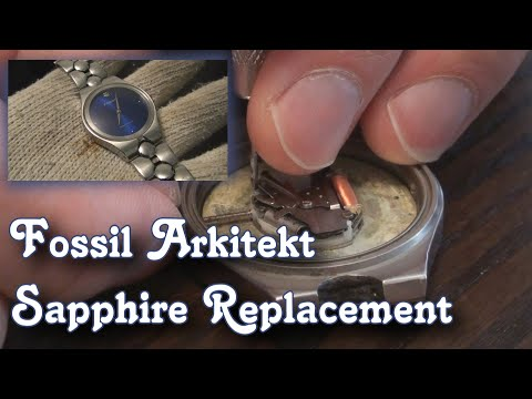 Fossil Arkitekt FS 2710 Teardown : Sapphire Crystal Upgrade & Replace Watch Battery