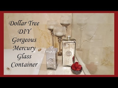 Gorgeous Silver Mercury Glass Dollar Tree DIY Home Decor
