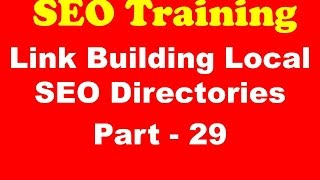 SEO Training - Link Building Local SEO Directories