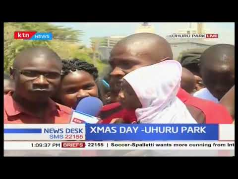 How Kenyans are celebrating #ChristmasDay at Uhuru Park