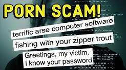 The scammers know your password! The zipper trout email scam