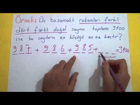 Doğal Sayılar 1 - (Basamak Kavramı Ve Değer Bulma) Şenol Hoca Matematik