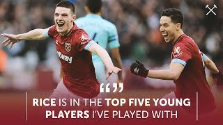 """SAMIR NASRI REACTS TO ARSENAL WIN: """"RICE IS IN THE TOP 5 YOUNG PLAYERS I'VE PLAYED WITH"""""""