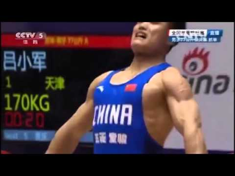 2016 China Weightlifting Olympic Trials  77 kg Snatch