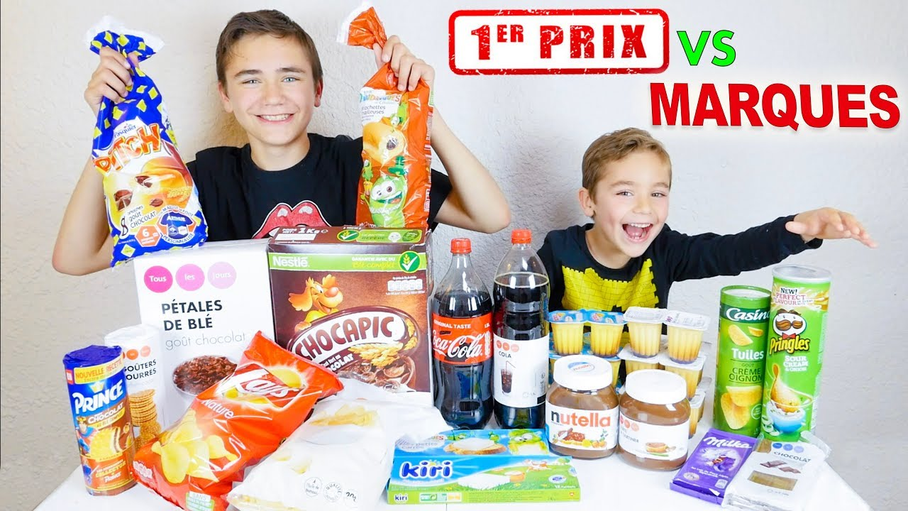 1ER PRIX vs MARQUES CHALLENGE !!! - Battle Alimentaire entre Swan & Néo