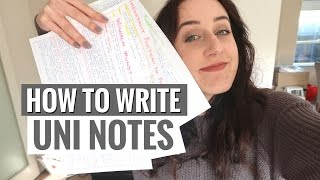 UNIVERSITY/COLLEGE NOTES, ORGANISATION & STUDYING TIPS | Back to School 2017