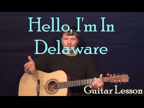 Hello I'm In Delaware (City and Colour) Guitar Lesson Easy Chords How to Play Tutorial - Capo 4th